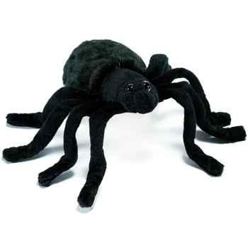 Anima - Peluche araignée noire 15 cm -4729