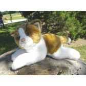 anima peluche chat couche roux et blanc 30 cm 1950