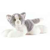 anima peluche chat couche gris 30 cm 1952