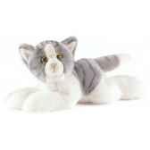 anima peluche chat couche gris 30 cm 1952