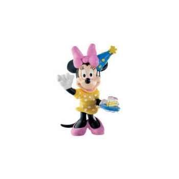 Figurine bullyland minnie anniversaire -b15339