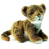anima peluche bebe tigre brun assis 18 cm 3421