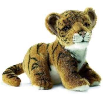 Anima - Peluche bébé tigre brun assis 18 cm -3421