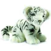 anima peluche bebe tigre blanc assis 18 cm 3420