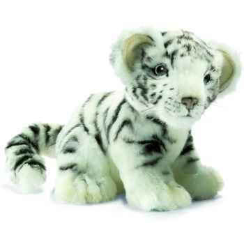 Anima - Peluche bébé tigre blanc assis 18 cm -3420