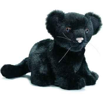 Anima - Peluche bébé panthère noire assis 18 cm -3426