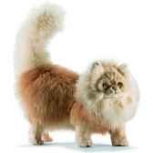 anima peluche chat persan a 4 pattes mieecru 45 cm 5011