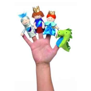 Marionnettes à doigts une journée au château coffret-cadeau -105310