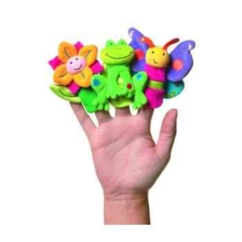 Marionnettes à doigts lot de 3 animaux du jardin -108140