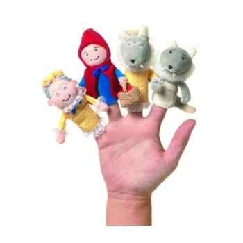 Marionnette le petit chaperon rouge coffret-cadeau marionnettes à doigts -108270