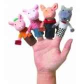 marionnette les trois petits cochons coffret cadeau marionnettes a doigts 108280