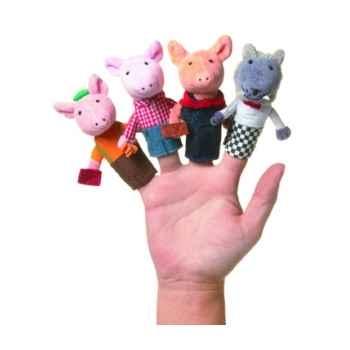 Marionnette les trois petits cochons coffret-cadeau marionnettes à doigts -108280