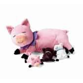 peluche animaux et leurs petits nuna cochon 110020
