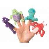 marionnettes a doigts lot de 4 animaux marins 116470