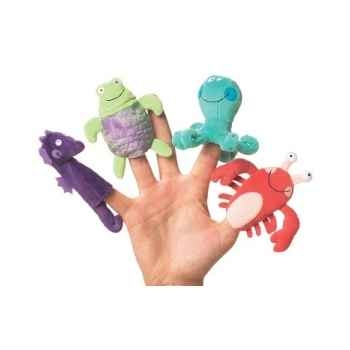 Marionnettes à doigts lot de 4 animaux marins -116470