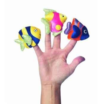 Marionnettes à doigts lot de 3 poissons -118310