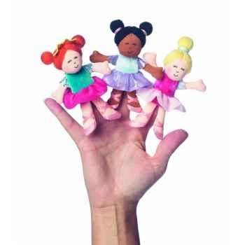 Marionnettes à doigts lot de 3 danseuses ballerines -118340