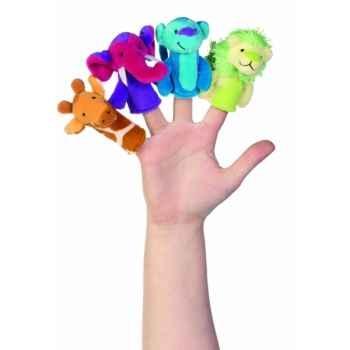 Marionnettes à doigts lot de 4 animaux de la jungle -119770