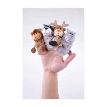 Marionnettes à doigts lot de 4 animaux de la forêt -130760