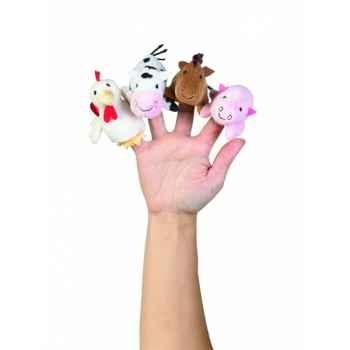 Marionnettes à doigts lot de 4 animaux de la ferme -130780