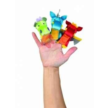 Marionnettes à doigts lot de 3 dragons -130800