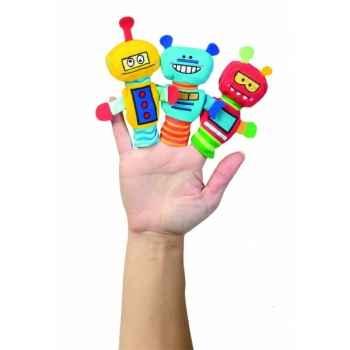 Marionnettes à doigts lot de 3 robots-130820