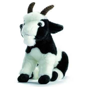 Anima - Peluche chèvre noire et blanche 26 cm -1704