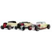 voiture en bois automoblox mini hot rod three pack 53104