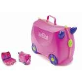 porteur valise trunki ride on rose trixie 9220006