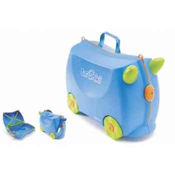Porteur valise trunki ride-on bleu terrance -9220005