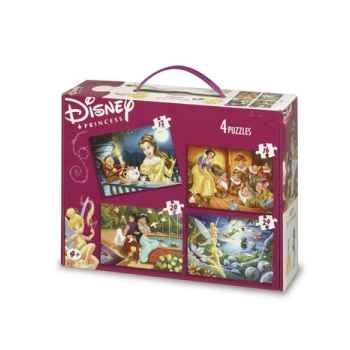 Puzzles 4 en 1 disney princesses 2 King Puzzle BJ01778
