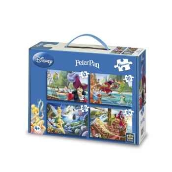 Puzzles 4 en 1 disney peter pan  King Puzzle BJ04779