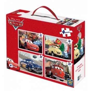 Puzzles 4 en 1 disney cars  King Puzzle BJ04782