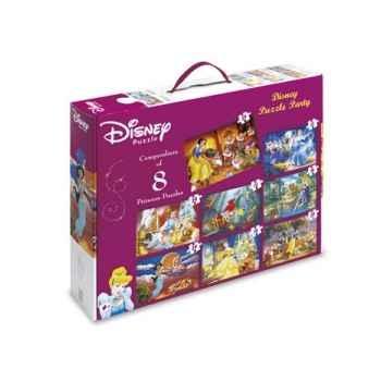 Puzzles 8 en 1 disney princesses King Puzzle BJ01795