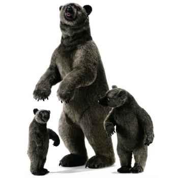 Anima - Peluche grizzly dressé 150 cm -3626