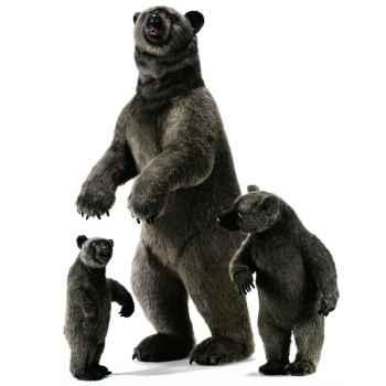 Anima - Peluche grizzly dressé 190 cm -4042