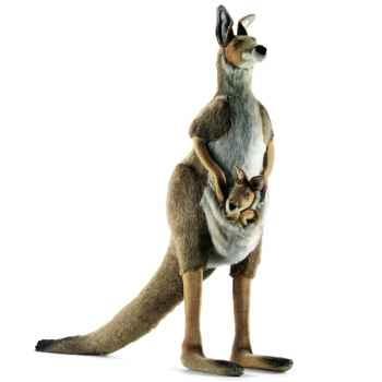 Anima - Peluche kangourou avec bébé 100 cm -3235