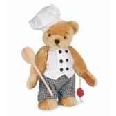 ours teddy bear chef 27 cm peluche hermann teddy originaedition limitee 14628 5