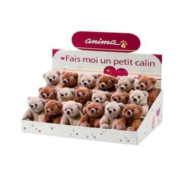 Anima - Peluche ours assis mini 11 cm -1895
