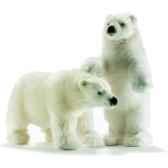 anima peluche ours polaire dresse 44 cm 4964