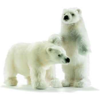 Anima - Peluche ours polaire dressé 44 cm -4964