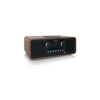 Poste radio lecteur cd noyer tangent -alio stereo-noy