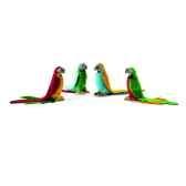 anima peluche perruche 4 couleurs assorties 16 cm 3326