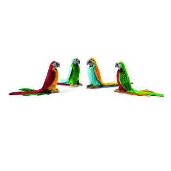 Perruche vert/rouge 16cmh Anima -3326