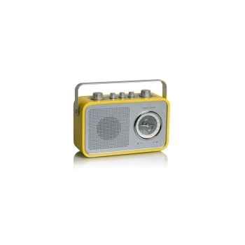 Radio am fm compacte portable jaune tangent -uno 2go-j