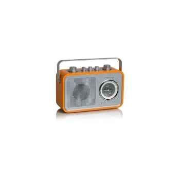 Radio am fm compacte portable orange tangent -uno 2go-o