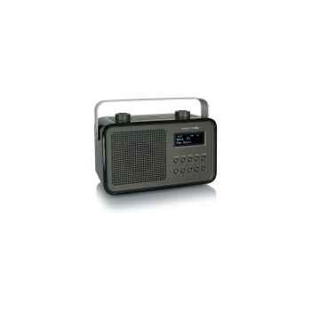 Radio am fm dab compacte portable noire tangent -dab 2go-noi