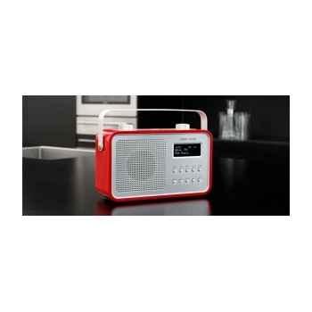 Radio am fm dab compacte portable rouge tangent -dab 2go-r