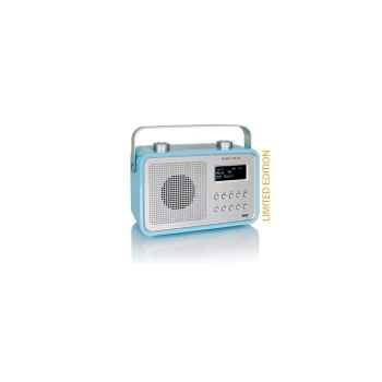 Radio am fm dab compacte portable bleue claire tangent -dab 2go-bc