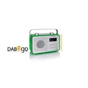 Radio am fm dab compacte portable vert pomme tangent -dab 2go-vp